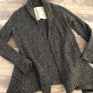 Canary Open Front Cardigan For Anthro Wool Blend